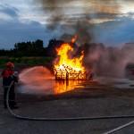 Brandbekämpfung eines Feuers